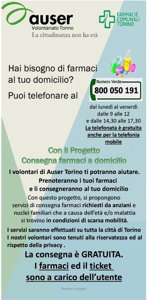 Auser Volontariato Torino onlus - Consegna farmaci a domicilio