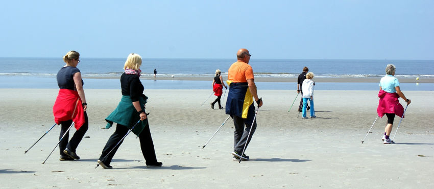 Beach Nordic Walking