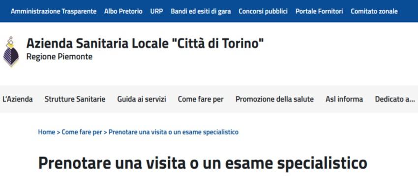 Nuova piattaforma CUP Città di Torino