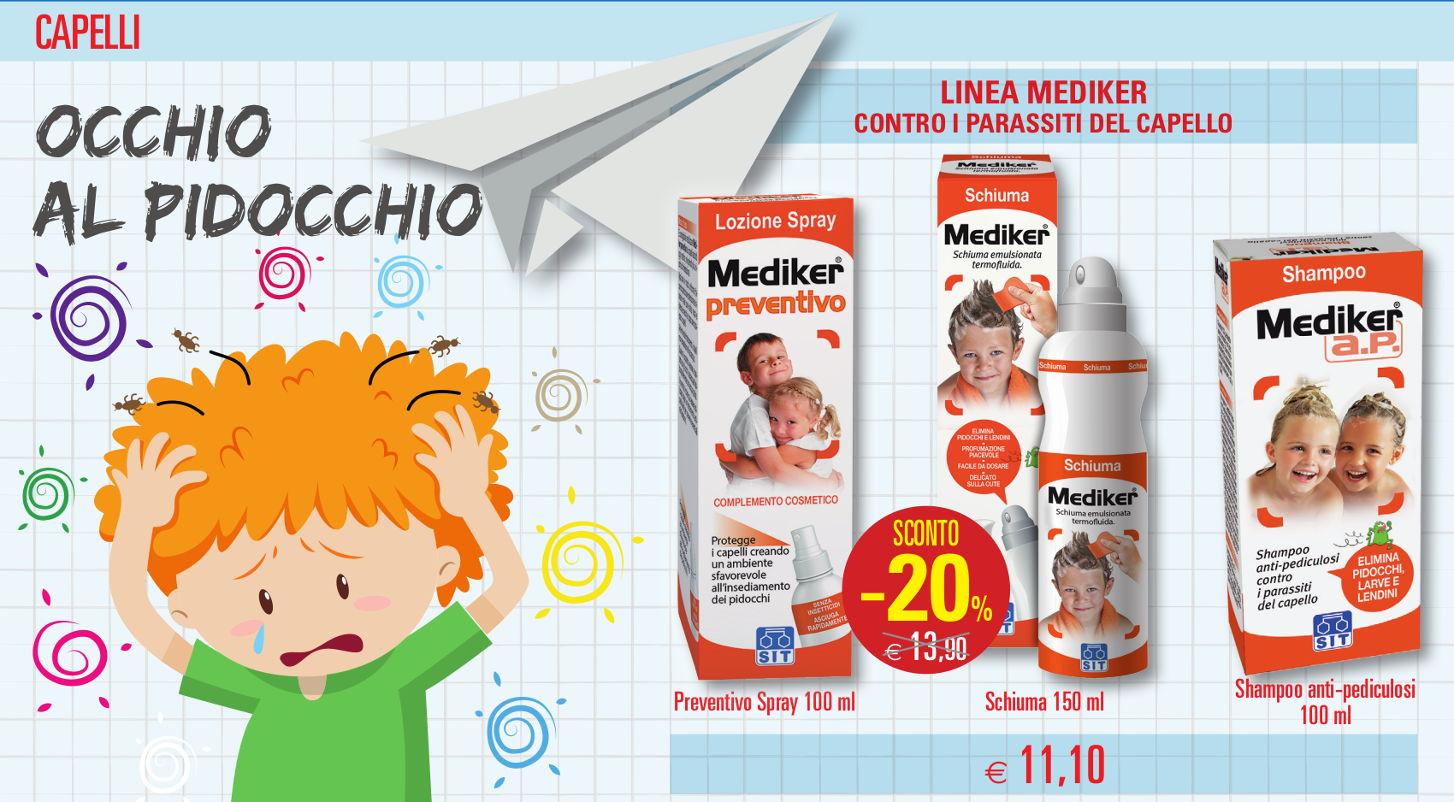 Linea Mediker contro parassiti capello