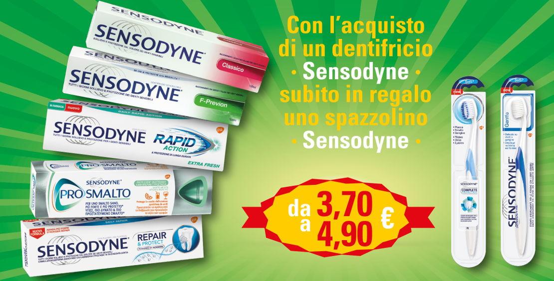Sensodyne offerta dentifricio spazzolino - Farmacie Comunali Torino